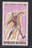 SENEGAL AERIENS N°   69 ** MNH Neuf Sans Charnière, TB (D7617) Jeux Olympiques Mexico, Javelot - 1968 - Sénégal (1960-...)