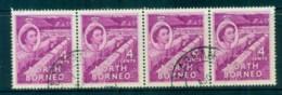 North Borneo 1954-57 QEII Hemp Drying 4c Str 4FU Lot82365 - Stamps