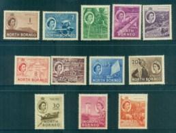 North Borneo 1954-57 QEII Pictorials To $1 (light Tones) MLH Lot82367 - Stamps