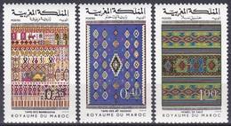 Marokko Morocco 1977 Kunsthandwerk Handicrafts Teppichknüpferei Teppiche Carpets Kunst Arts Kultur Culture, Bl. 867-9 ** - Marokko (1956-...)