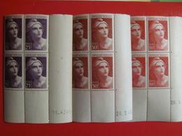 FRANCE RARE COLLECTION 170 BLOCS DE 4 DIFF. COINS DATES NEUFS** / ANNEES 40 MAJ TB/SUP - Non Classés
