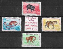 Mammifère Jaguar Pécari Singe - Equateur N°680 à 683 1961 ** - Francobolli
