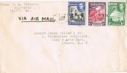 29943. Carta Aerea PITT'S BAY (bermuda) 1941. Fechador HAMILTON - Bermudas