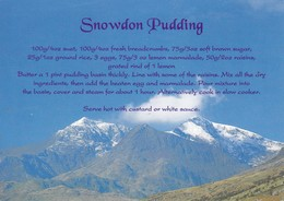 Postcard Recipe For Snowdon Pudding By Cymric Cards My Ref  B23116 - Recipes (cooking)