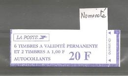 Carnet LUQUET Type I. Y&T N° 1508. Sterners-CV-6x3085-2x3101. Neuf. Fermé. Numéroté + 2 RE Sur Une Bande. TB. - Carnets