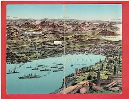 EXPEDITION DE SALONIQUE DE 1915 A 1918 DEBARQUEMENT FRANCAIS ET ALLIES CARTE ITALIENNE DOUBLE EN BON ETAT - Guerre 1914-18