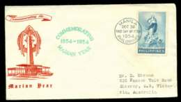 Philippines 1954 Marian Year FDC Lot51618 - Philippines