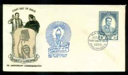Philippines 1955 Republic Anniv. FDC Lot51621 - Philippines