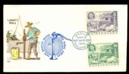 Philippines 1956 Liberty Well FDC Lot51620 - Philippines