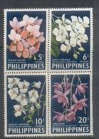 Philippines 1962 Flowers Vanda Orchids MUH - Philippines