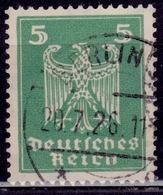 Germany, 1924, German Eagle, 5pf, Sc#331, Used - Germany