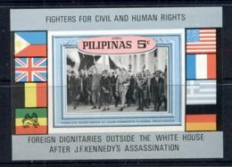 Philippines 1969 JFK Kennedy, Civil Rights MS MUH - Philippines