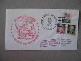 Lettre Explorations Polaires Des USA 1974 Us Geological Survey Antarctic Research Program   Pour La France à Voir - Poststempel