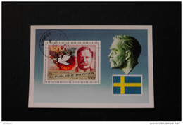 Niger Theodore Roosevelt Nobel Peace Prize Cancelled Souvenir Sheet Block  1997 A04s - Niger (1960-...)