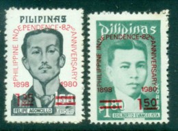 Philippines 1980 Independence 82nd Anniv. MUH Lot82551 - Philippines