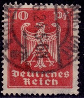 Germany, 1924, German Eagle, 10pf, Sc#332, Used - Used Stamps