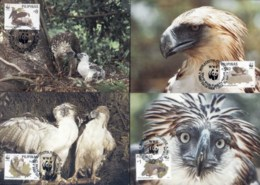 Philippines 1991 WWF Philippine Eagle Maxicards - Philippines