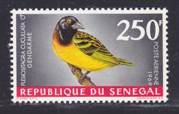 SENEGAL AERIENS N°   65 ** MNH Neuf Sans Charnière, TB (D7620) Oiseaux, Gendarme - 1968 - Sénégal (1960-...)