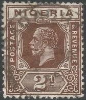 Nigeria. 1921-32 KGV. 2d Used. Mult Script CA W/M. Die II SG 19 - Nigeria (...-1960)