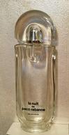 """Ancien Flacon (pas Vapo)  """"LA NUIT  """" De PACO RABANNE  EDT 100 Ml VIDE Pour Collection Ou Décoration - Bottles (empty)"""