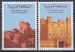 Marokko Morocco 1979 Architektur Architecture Bauwerke Gebäude Buildings Forts Agadir Marrakesch, Mi. 895-6 ** - Marokko (1956-...)