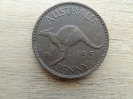 Australie  1  Penny  1951 Kc  Km  43 - Sterling Coinage (1910-1965)