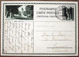 """Schweiz Suisse 1930: Bild-PK """"BIEL (Bienne)""""  Mit O HOMBERG 10.X.30 (BEI THUN) - Interi Postali"""