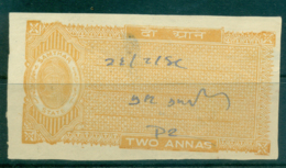 Samthar State 1942-48 Court Fee Ty.10 2a Orange Brown Lot36609 - Unclassified