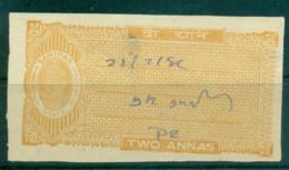 Samthar State 1942-48 Court Fee Ty.10 2a Orange Brown Lot36609 - India