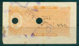 Samthar State 1942-48 Court Fee Ty.10 2a Orange Lot36611 - India