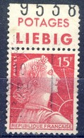 +France Advertising [224]. Yvert 1011, LIEBIG, Braun 1226,1. Used - Advertising