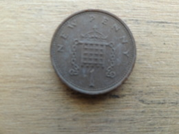 Grande-bretagne  1 New Penny  1974  Km 915 - 1971-… : Monnaies Décimales