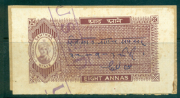 Samthar State 1942-48 Court Fee Ty.10 8a Brown Lot36612 - Unclassified