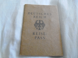 1935 Germany Reisepass/ Passport, Issued Leipzig, Austria Entries. + Stadturlaubsschein Document 1943 - Historical Documents