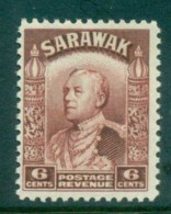 Sarawak 1934-41 Sir Charles Vyner Brooke 6c Red Brown MUH Lot82201 - Sarawak (...-1963)