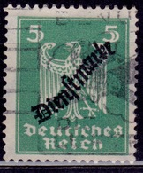 Germany, 1924, German Eagle, 5pf Overprint, Sc#O54, Used - Used Stamps