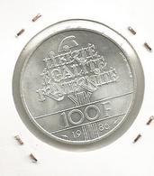 Monnaie ,100 Francs ,Argent , Statue De La LIBERTE , 1986 , 2 Scans - France