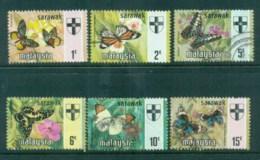 Sarawak 1971 Butterflies & State Crest To 15c FU Lot82309 - Sarawak (...-1963)