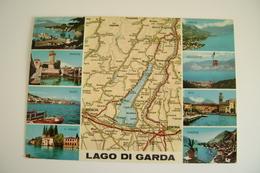 LAGO DI GARDA CARTINA  ACI  VIAGGIATA  COME DA FOTO - Carte Geografiche