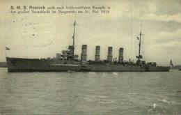FELDPOST AK Kriegsschiff SMS Rostock, Sank Nach Der Skagerrak-Seeschlacht 1916 - Krieg