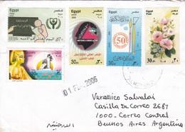 ENVELOPE CIRCULEE CIRCA 2006 EGYPT TO ARGENTINE, MIXED STAMP- BLEUP - Egypte