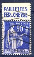 +France Advertising [202]. Yvert 368, FER A CHEVAL , Braun 1057. Used - Advertising