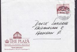 Denmark THE PLAZA Royal Classic Hotels Bernstorffsgade KØBENHAVNS LUFTHAVN 1988 Cover Brief Tønder Statsseminarium - Briefe U. Dokumente