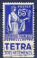 +France Advertising [200]. Yvert 365, TETRA , Braun 1014. Used - Advertising