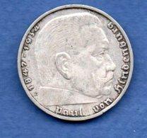 Allemagne  -  2 Reichsmark 1937 E  -  Km# 93 -  état  TTB - [ 4] 1933-1945 : Third Reich