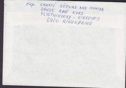Denmark RED CROSS REFUGEE CAMP Registered Einschreiben Label RINGKØBING 1994 Cover Brief Swedish Embassy (2 Scans) - Dänemark