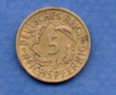 Allemagne  -  5 Reichspfennig 1925 E   -  Km# 39-  état  TTB - [ 3] 1918-1933 : Weimar Republic