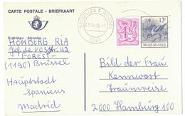 AI31   Entier Briefkaart 1990 Buzin  Brussel - Interi Postali