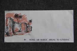 MAROC - Enveloppe Publicitaire Vierge : ROYAL AIR MAROC - AIRLINE TO SUNSHINE. - Invoices & Commercial Documents