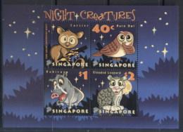 Singapore 2003 Nocturnal Animals MS MUH - Singapore (1959-...)